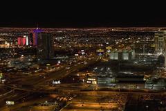 Cityscape at night, Las Vegas, Nevada Stock Photos