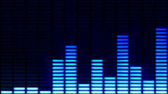 Digital audio equalizer background. Blue-Orange-Alpha matte. - stock footage