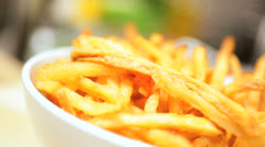 Delicious Home Made French Fries Close Up - stock footage