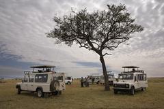 Safari Ajoneuvot Kuvituskuvat
