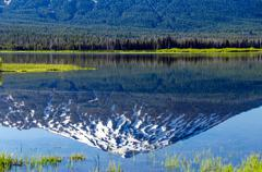 Mount Bachelor Reflection - stock photo