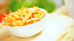 Delicious Home Made French Fries Close Up Stock Footage