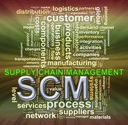Scm word tags wordcloud Stock Illustration