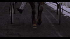 HARNESS RACING - HORSES APPROACHING 3 Stock Footage