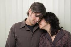 Stock Photo of A young couple embracing