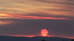 Taos New Mexico Pink Sunset Stock Footage