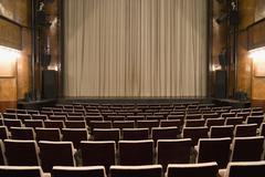 An empty art deco theatre - stock photo