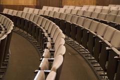 Rows of empty seating in an auditorium Stock Photos