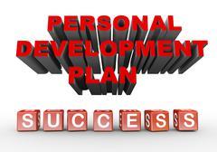 3d personal development plan Stock Illustration