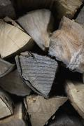 Detail of a pile of firewood Stock Photos