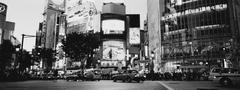 Kiireinen risteys, Shibuya, Tokio, Japani Kuvituskuvat