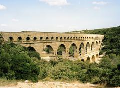 Pont du Gard, Roussillon, Languedoc, France Stock Photos