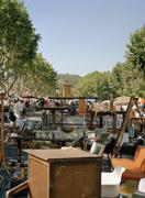 A flea market, Provence, France Stock Photos