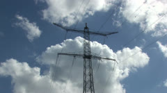 Electricity pylon - stock footage