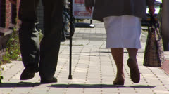Oldest copple walking anonymous - stock footage