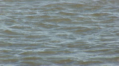 Waves on river Stock Footage