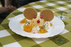 An ice-cream sundae Stock Photos