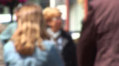 People walking in the street anonymous Stock Footage