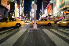 Taxis on Times Square in Manhattan Kuvituskuvat