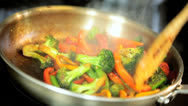 Stock Video Footage of Appetizing Assorted Organic Vegetable Stir Fry Meal
