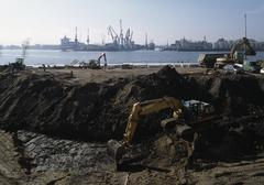 Construction works near the Docks Stock Photos