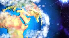 Cartoon Earth 2 Stock Footage