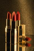 A group of red lipsticks - stock photo