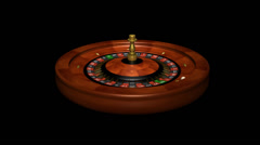 Casino Roulette Wheel With Ball - 3D - Loop + Alpha channel Stock Footage