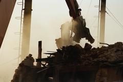 Demolishing a building Stock Photos