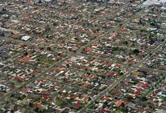 Stock Photo of Aerial view of suburbs