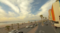 Board walk Tel Aviv Pan Right to Left Day4 Stock Footage