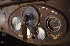 Car keys in a rusty dashboard Stock Photos