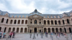 Les Invalides Hyperlapse Stock Footage