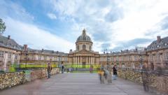 University of Paris Hyperlapse Stock Footage