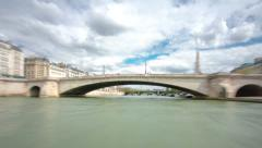 Along the Seine aboard Stock Footage