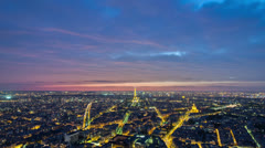 Eifel tower from roof Stock Footage