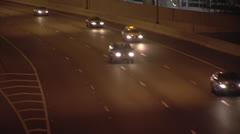 Cars ayalon night Stock Footage