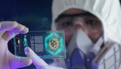 Future scientist DNA analysis Stock Footage