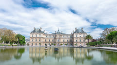 Luxembourg Palace Hyperlapse Stock Footage