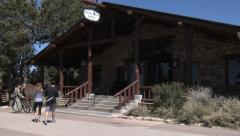 Bright Angel Lodge Grand Canyon National Park Stock Footage