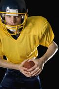 An American football player - stock photo