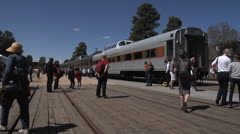 Grand Canyon Railway Trains Arriving 1 Stock Footage