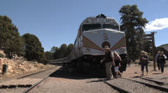 Grand Canyon Railway Locomotive, Arizona - stock footage