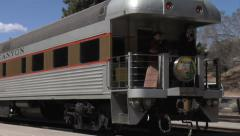 Grand Canyon Trains Pulling Into Station Stock Footage