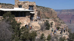 Grand Canyon Lookout Studio - Arizona - stock footage