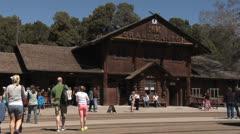 Grand Canyon National Park Railway Depot Stock Footage