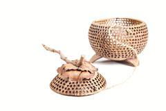 Casket made of coconut shell Stock Photos