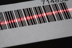 A laser reading a bar code Stock Photos