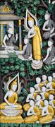 native thai sculpture - stock illustration