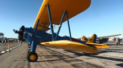 Stearman Biplane Stock Footage